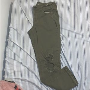 American Eagle Green Tomgirl Jeans